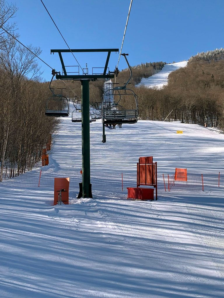 The Mountain Triple at Stowe, January 2019
