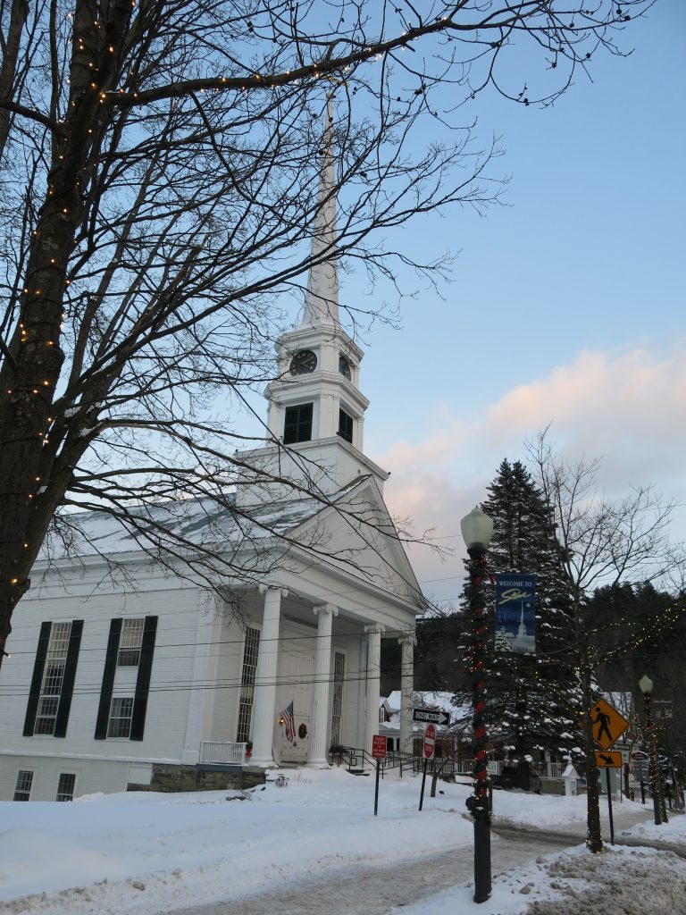 The famous church in Stowe, January 2019