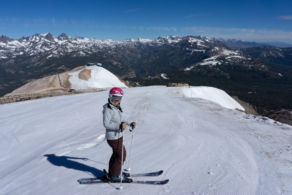 Summer skiing at Mammoth, June 30th, 2019