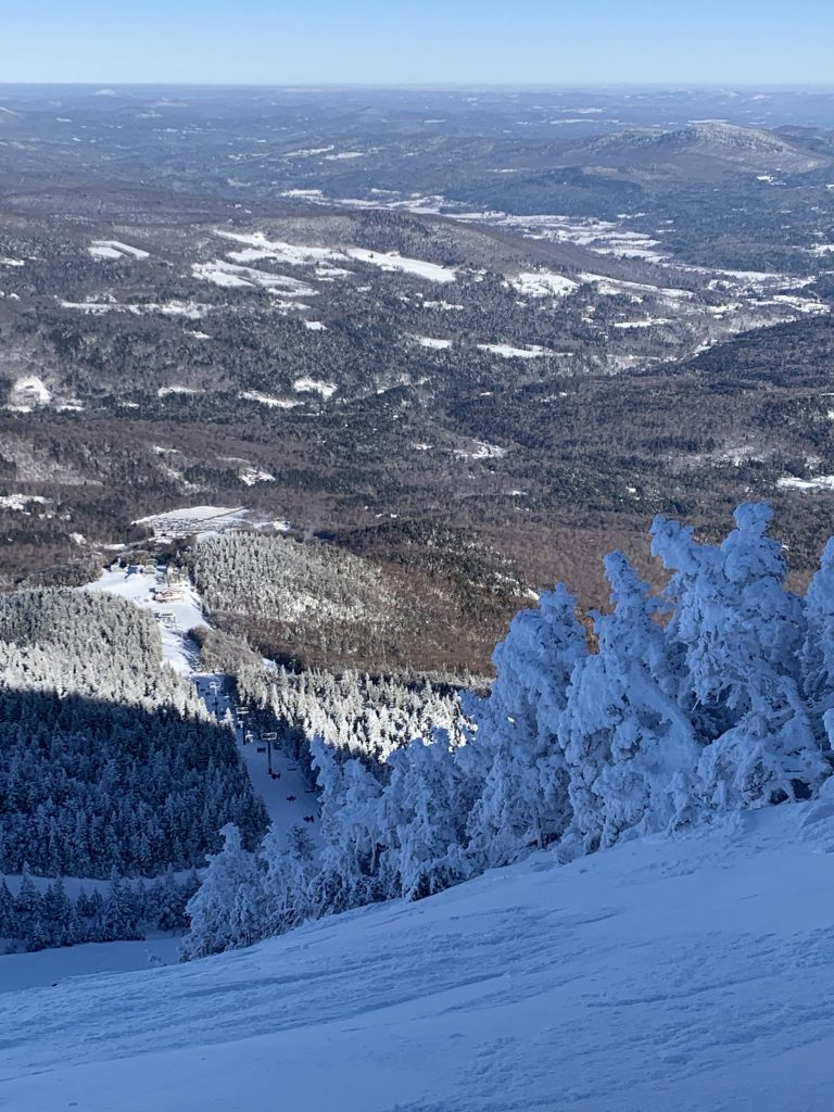 Views from the top of Sugarbush, January 2019