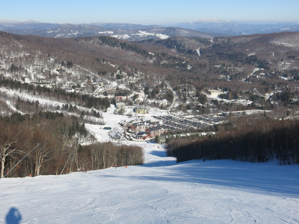 View of the Mt. Lincoln base from Spring Fling at Sugarbush, January 2019