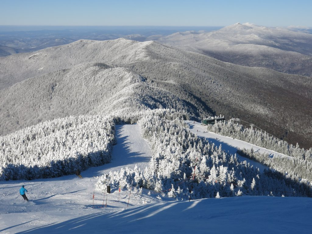 Views from the top of Mt. Ellen at Sugarbush, January 2019