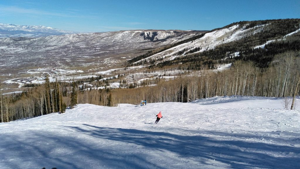 Great snow and view of the Grand Mesa at Powderhorn, February 2019