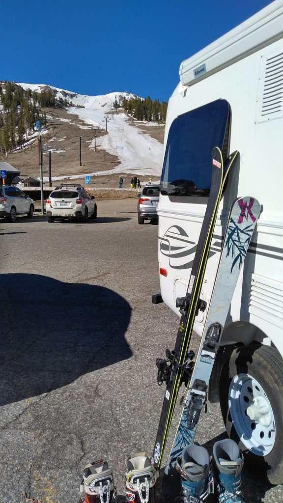Great parking at the Mill at Mammoth, June 2019