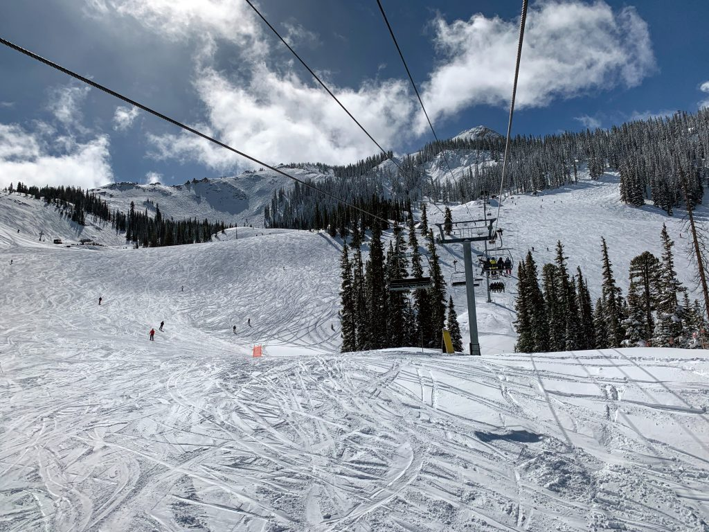 Paradise chair at Crested Butte, March 2019