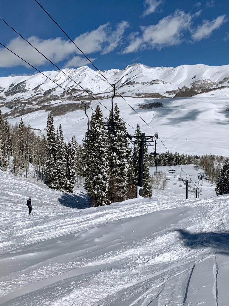 Teocalli Chair (not running) at Crested Butte, March 2019