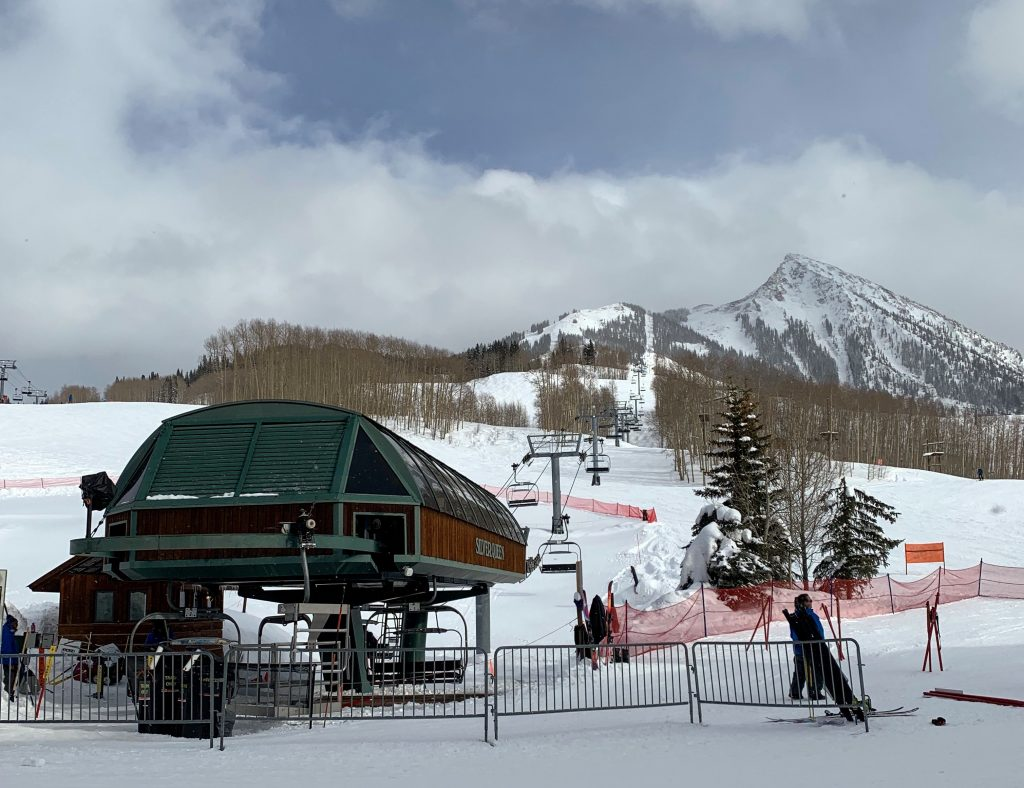Base of Silver Queen at Crested Butte, March 2019