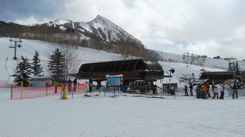 Base of Red Lady and Silver Queen, Crested Butte, March 2019