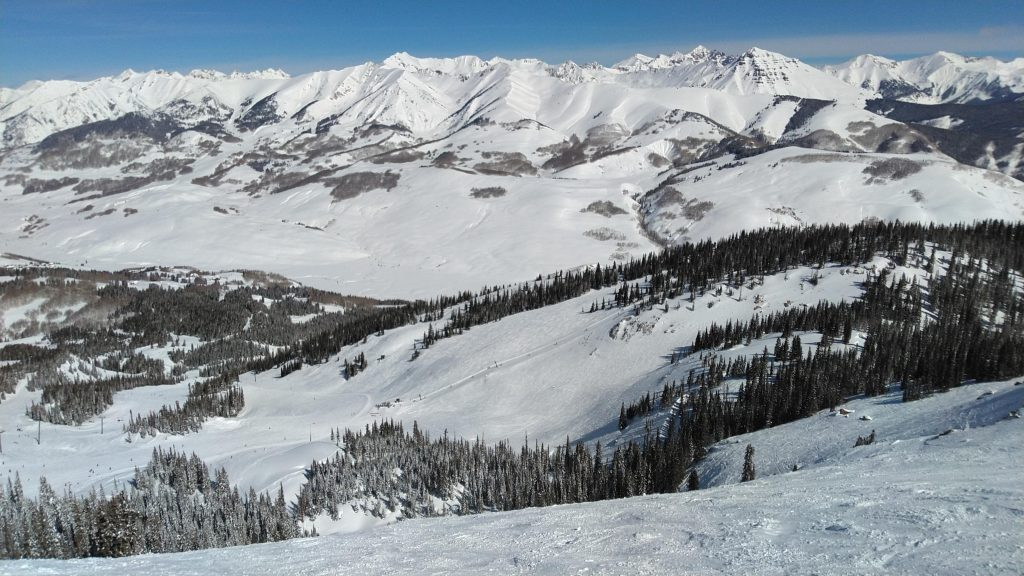 Top of Headwall at Crested Butte, March 2019