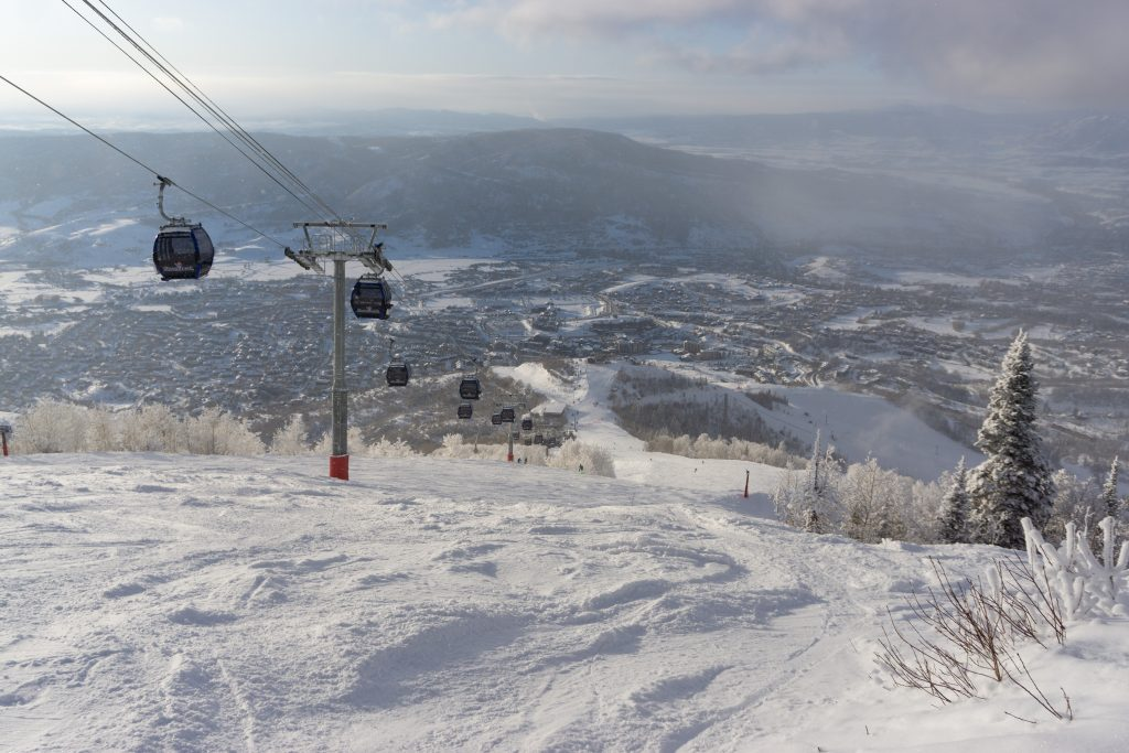 New gondola at Steamboat, December 2019
