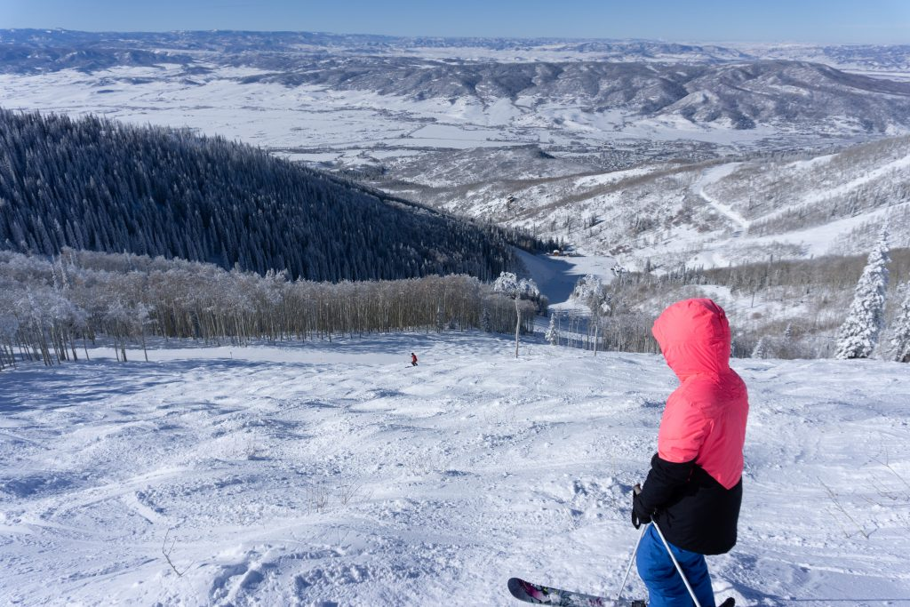 More bumps to ski on Three O'Clock at Steamboat, December 2019