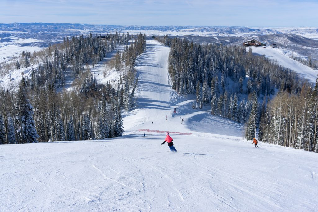Fun groomers at Steamboat, December 2019