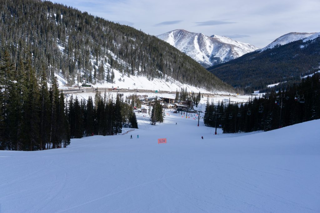 Loveland Basin base area, December 2019