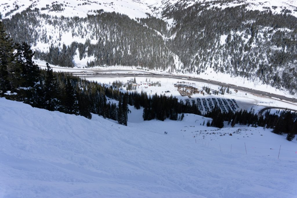 Double-black rated Avalanche Bowl at Loveland, December 2019