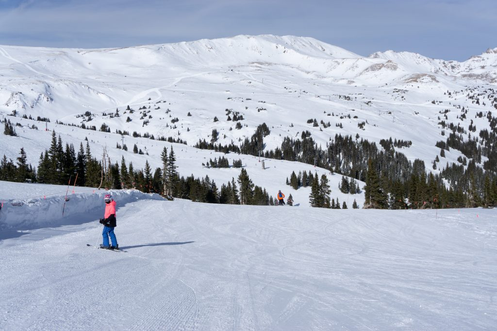 Top of chair 6 at Loveland, December 2019