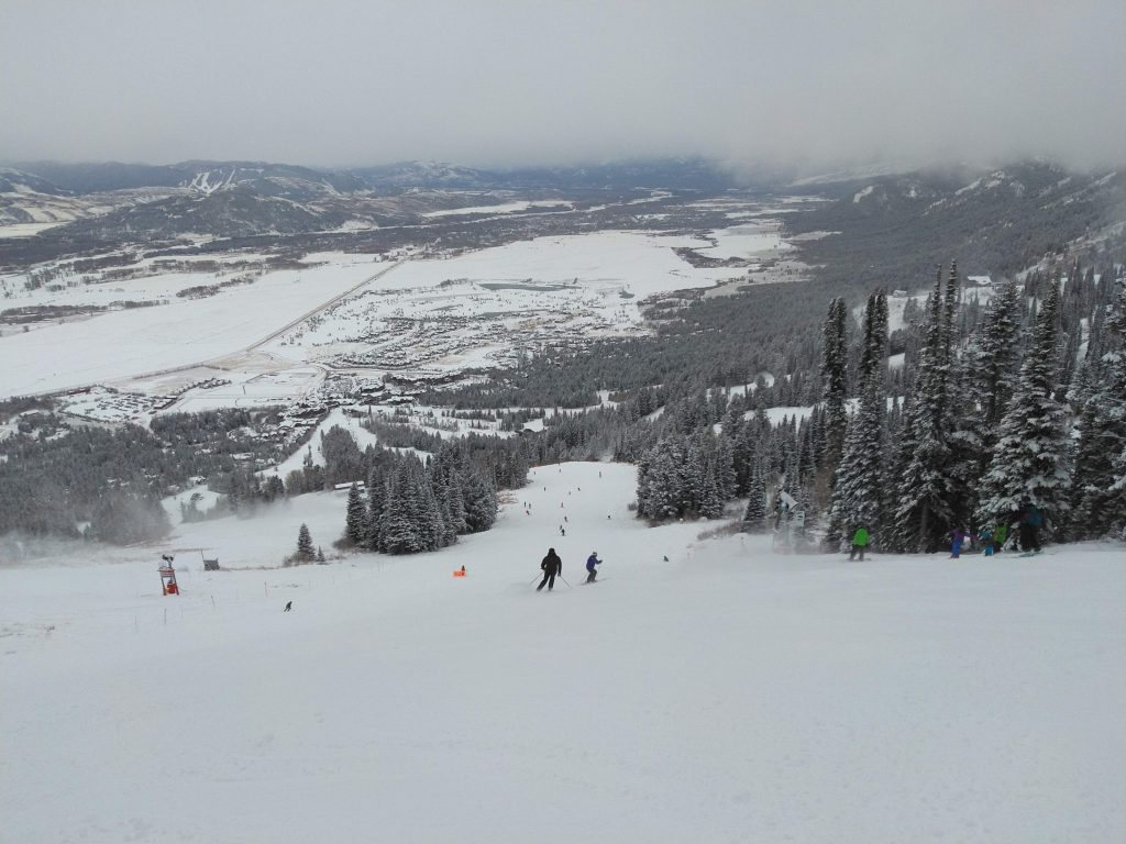 First day of the 19/20 season on Thanksgiving at Jackson Hole