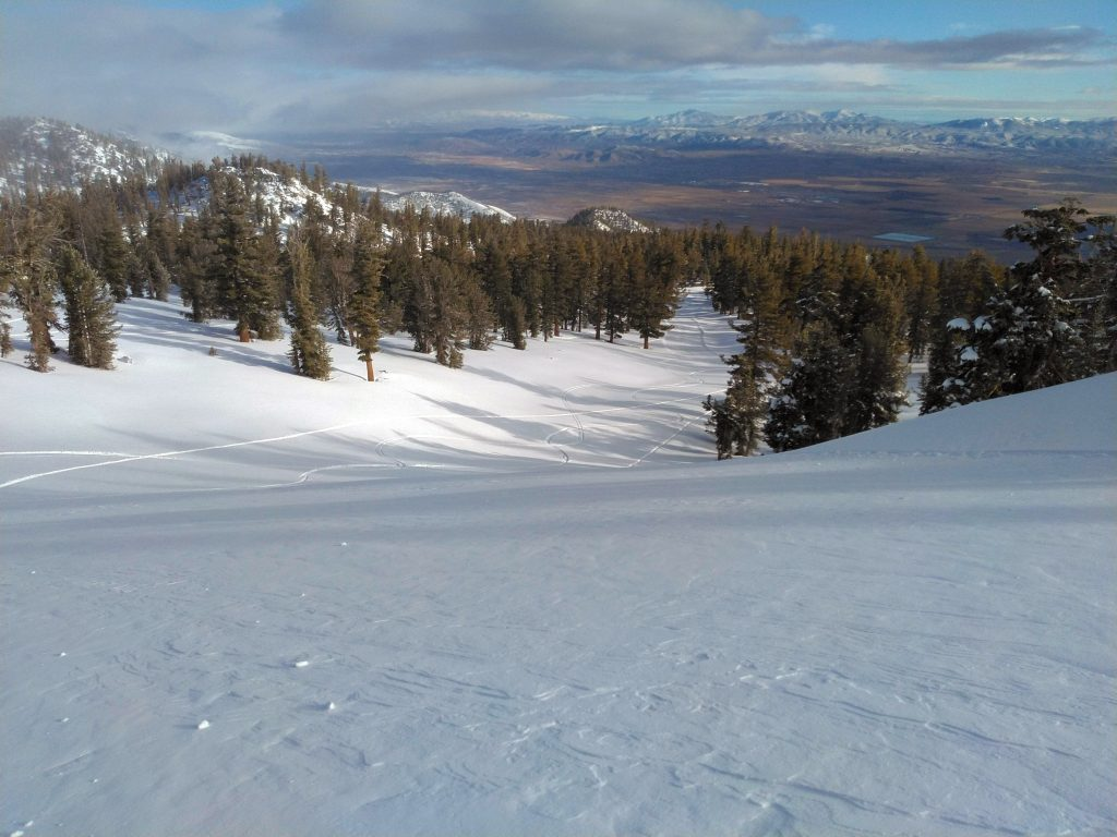 Filling in nicely at Heavenly, December 2019