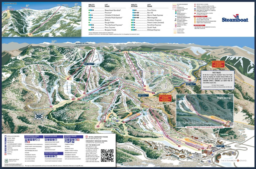 Steamboat trail map 2019/20