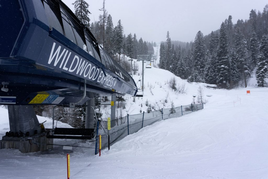 New Wildwood chair at Tamarack, February 2020