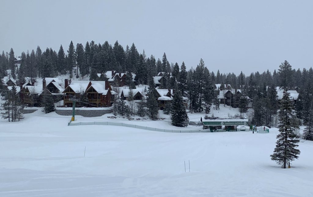 Tamarack Express base, February 2020
