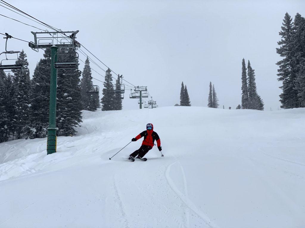 Hero snow at Tamarack, February 2020