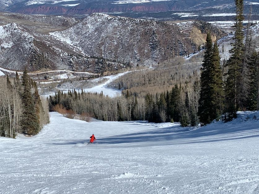 Uncrowded groomers at Sunlight, February 2020