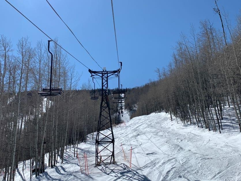 """Segundo"" lift at Sunlight, February 2020"