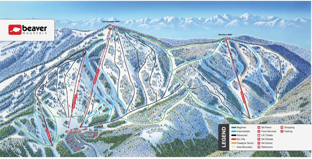 Beaver Mountain Trail Map 2019/2020