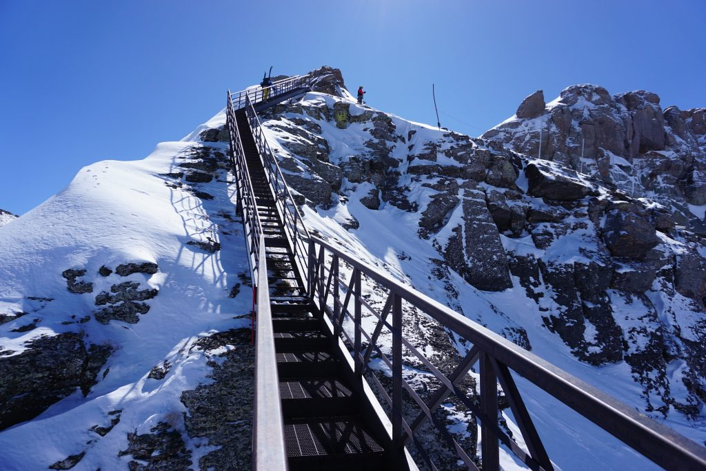 Gold Hill stairs at Telluride, March 2020