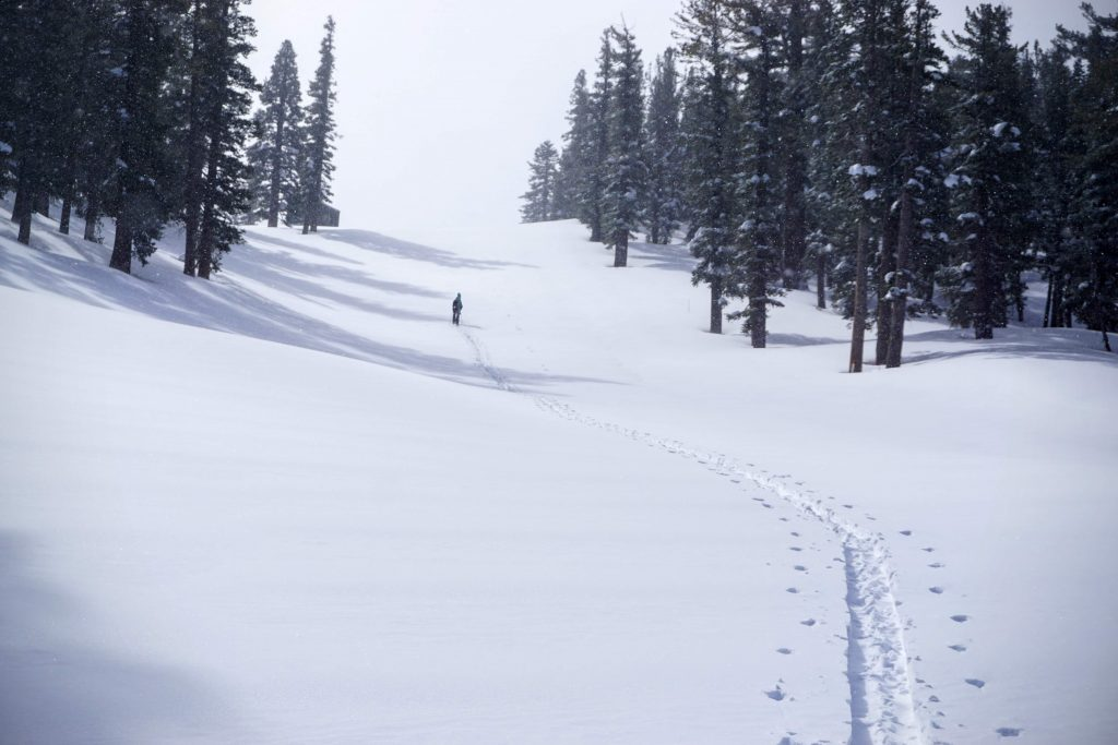 Climbing up at Heavenly, March 2020