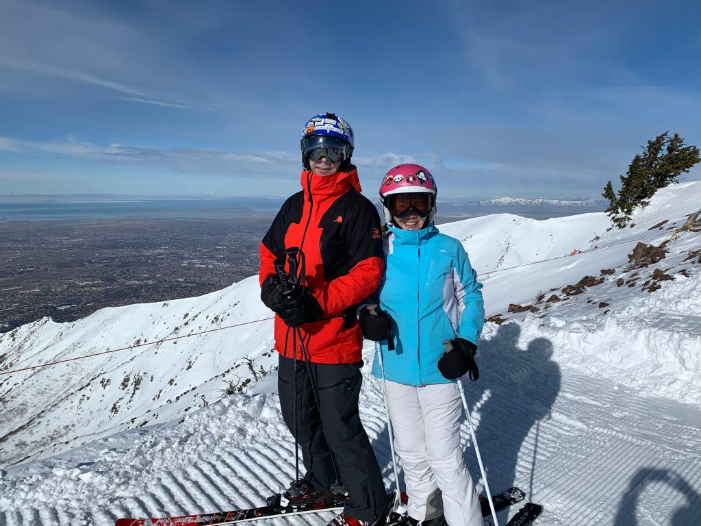 Top of Snowbasin Utah, February 2020