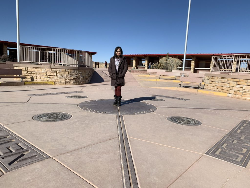 Four Corners on the way home, March 2020