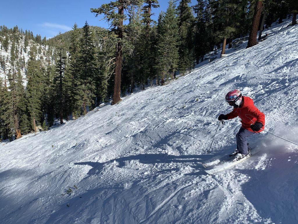 Heavenly bump skiing, November 2020