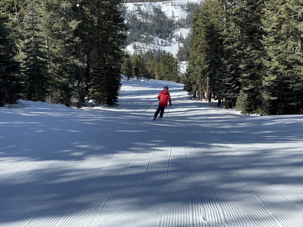Backside groomer at Bear Valley, March 2021