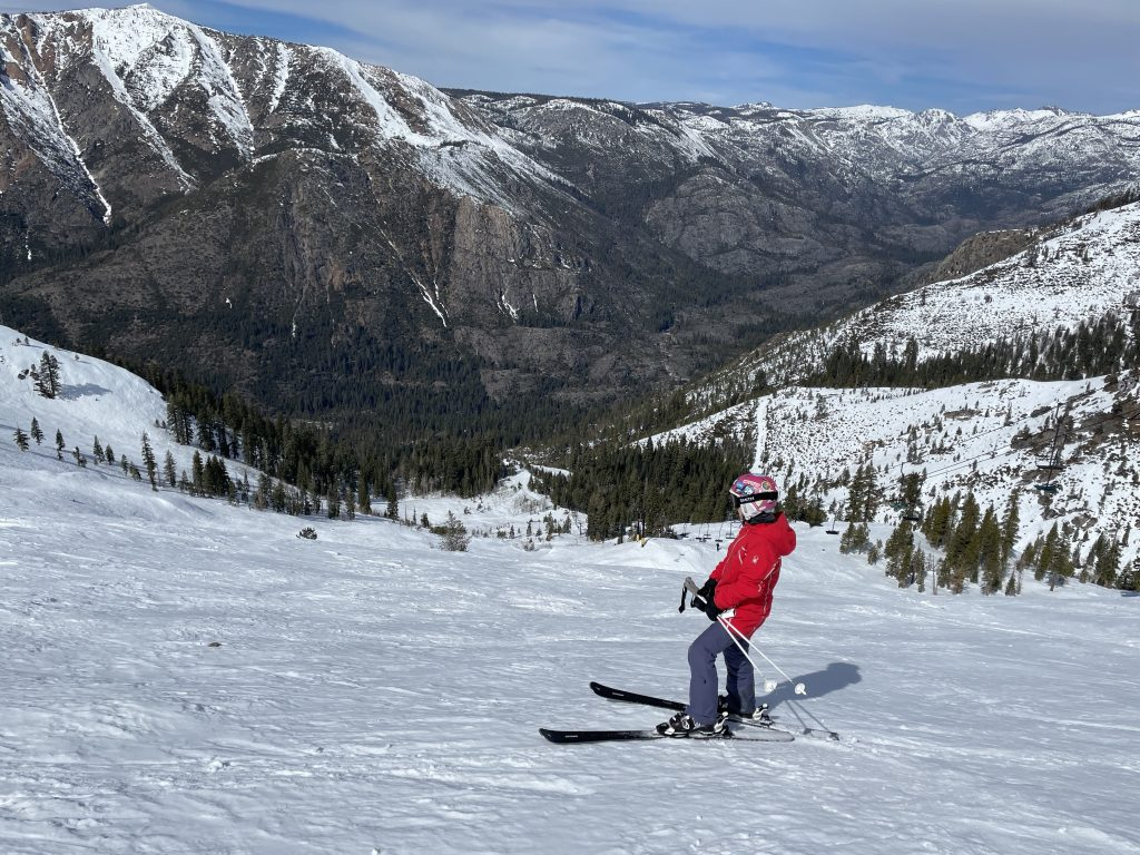 Great views from Grizzly Bowl at Bear Valley, March 2021